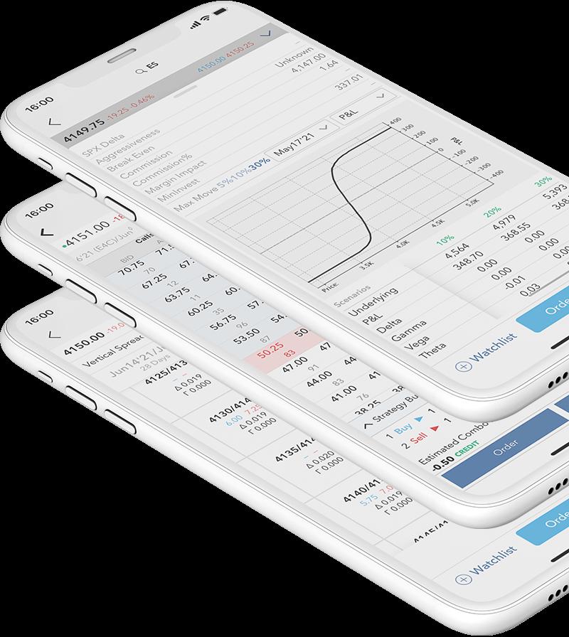 Mobilní telefon s obchodní aplikací LYNX Trading