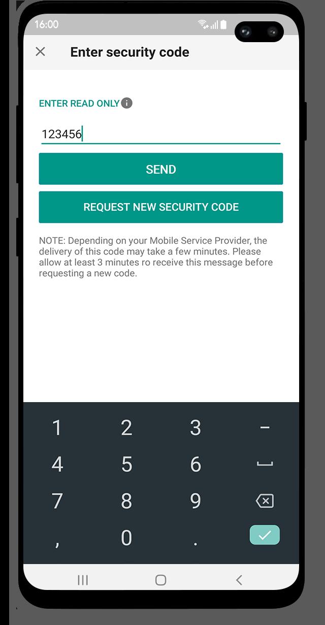 Bezpečnostní přihlášení do platformy LYNX Trading na mobilním telefonu s Android
