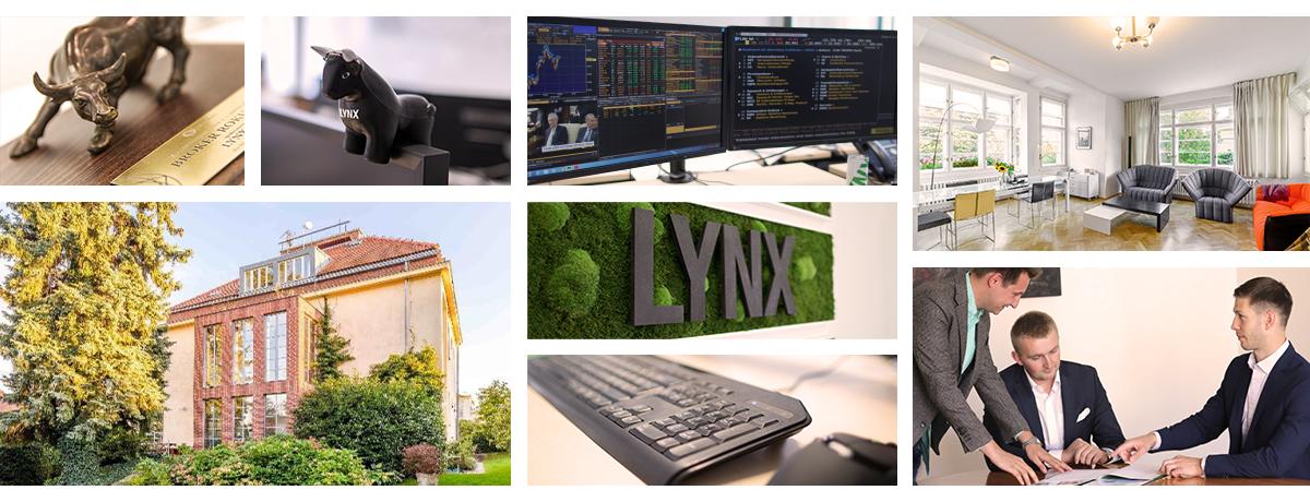 Obrázek zachycující kvalitní a profesionální zázemí a přátelské prostředí pro pracovníky LYNX