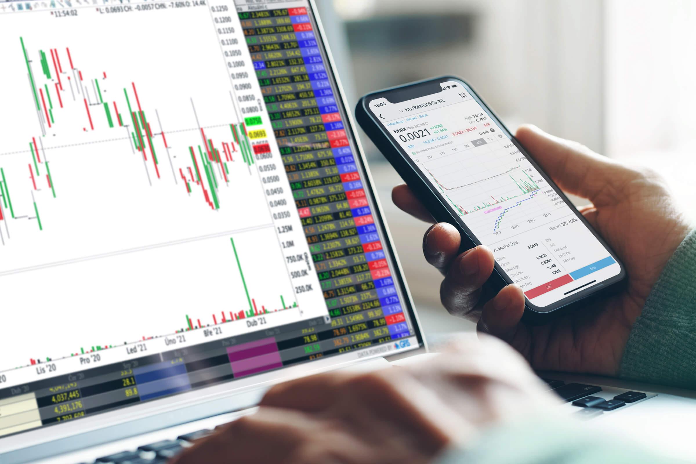 Detail na obchodní platformu a penny stocks akcie