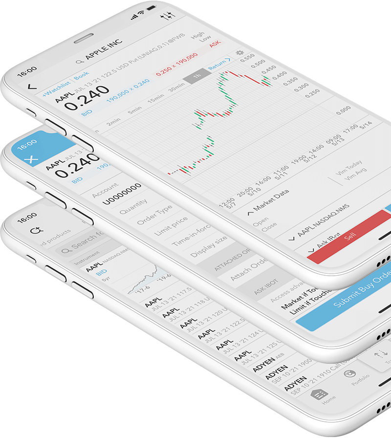 Mobilní zařízení s aplikací LYNX Trading díky které můžete obchodovat warranty