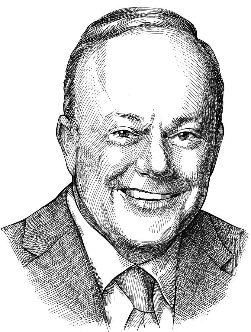 Perokresba investora a zakladatele kvantitativní analýzy Jamese O'Shaughnessyho