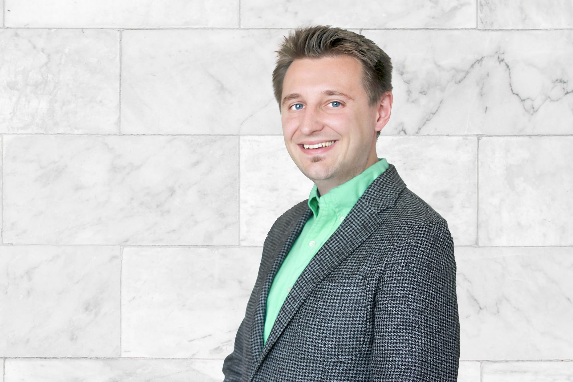 Fotografie manažera české pobočky LYNX Jonáše Mlýnka