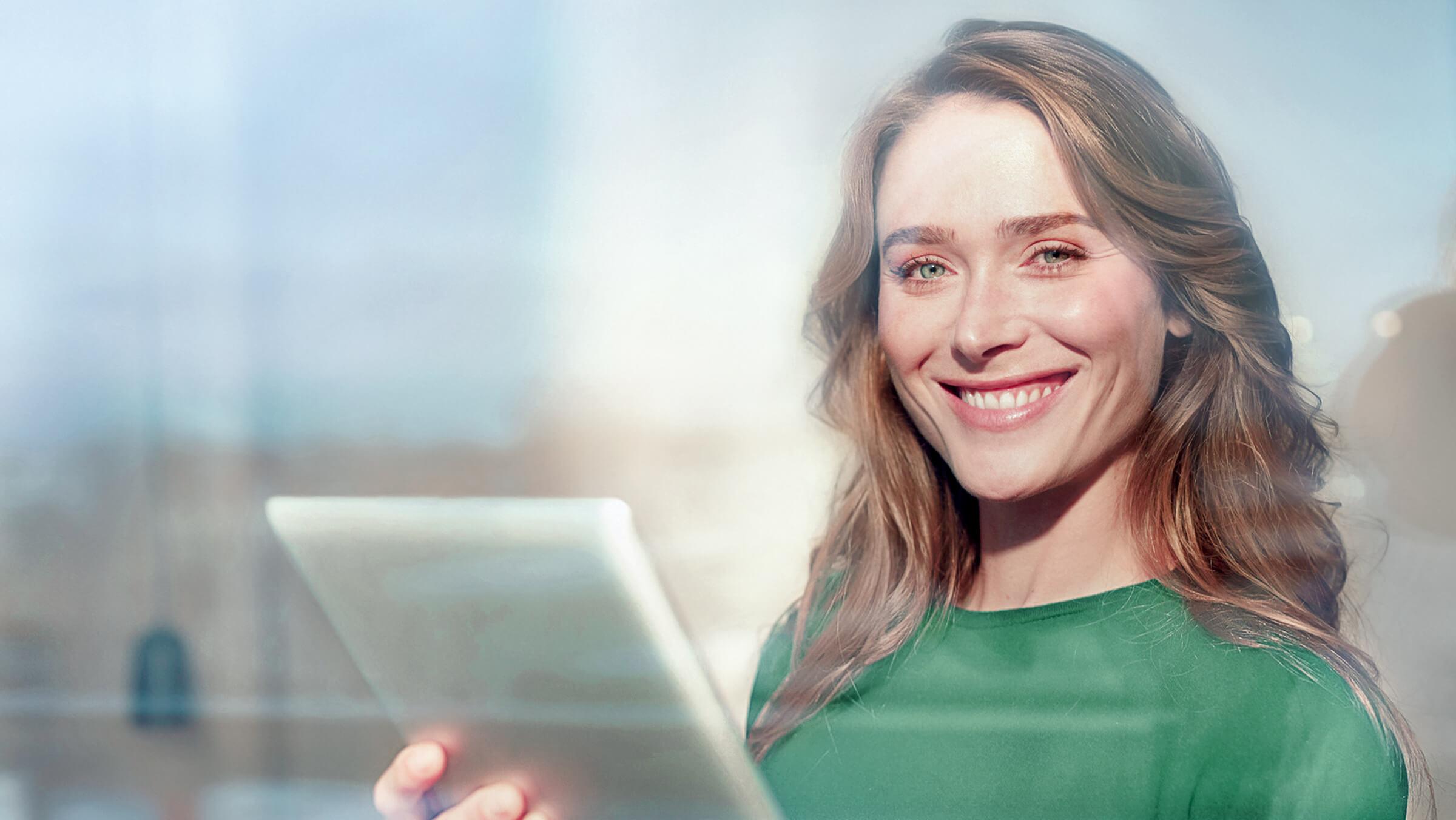 Spokojená klientka LYNX krátce poté, co si otevřela investiční účet