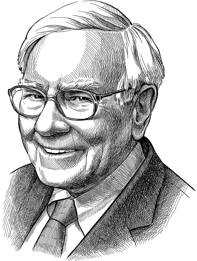 Perokresba investičního guru a zastánce hodnotového investování Warrena Buffetta