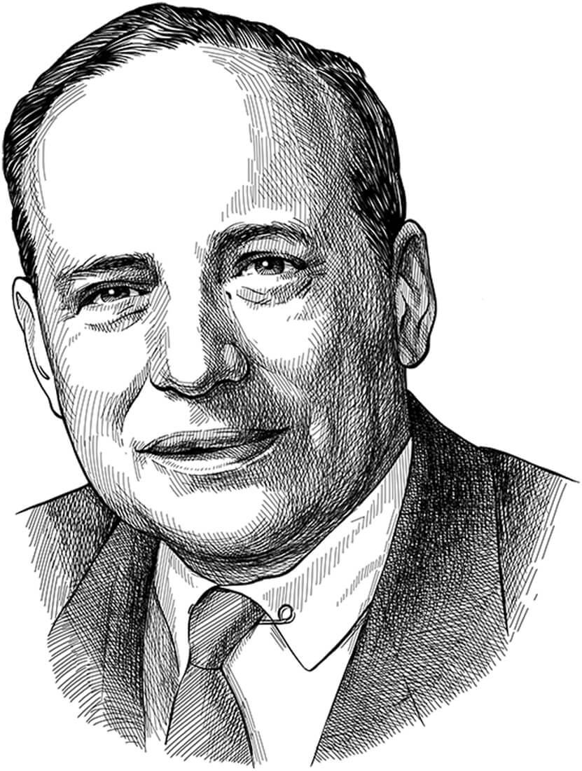 Perokresba otce hodnotového investování a investičního guru Benjamina Grahama