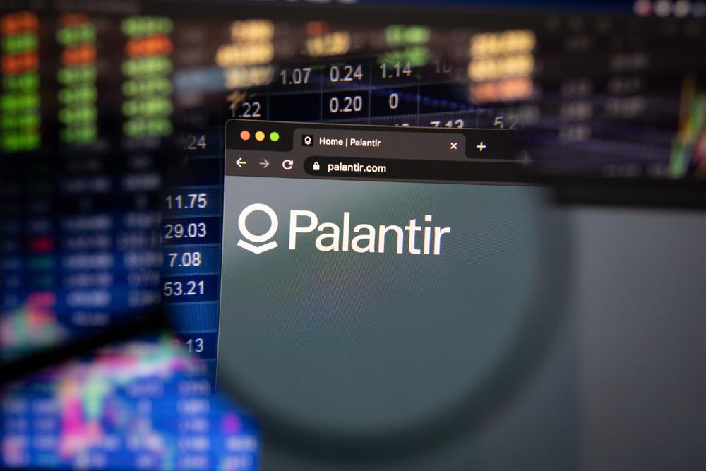 Detail na logo Palantir